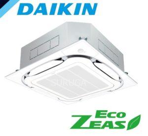 ダイキン 業務用エアコン EcoZEAS 天井カセット4方向 S-ラウンドフロー 1.5馬力 シングル 標準省エネ 単相200V ワイヤード