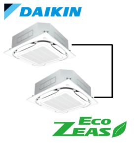 ダイキン 業務用エアコン EcoZEAS 天井カセット4方向 S-ラウンドフロー みまもりZEAS 10馬力 同時ツイン 標準省エネ