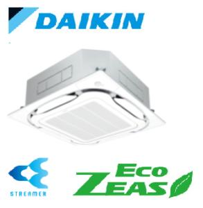 ダイキン 業務用エアコン EcoZEAS 天井カセット4方向 S-ラウンドフロー ストリーマ除菌シリーズ 6馬力 シングル 標準省エネ  冷媒R32