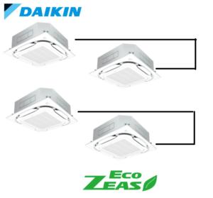 ダイキン 業務用エアコン EcoZEAS 天井カセット4方向 S-ラウンドフロー みまもりZEAS 8馬力 同時ダブルツイン 標準省エネ 三相200V ワイヤード