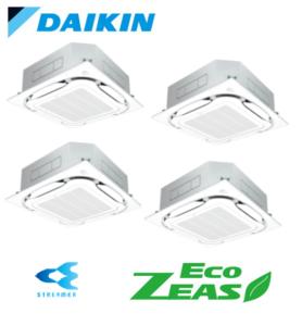ダイキン 業務用エアコン EcoZEAS 天井カセット4方向 S-ラウンドフロー ストリーマ除菌シリーズ 10馬力 同時ダブルツイン 標準省エネ 三相200V ワイヤード 冷媒R32