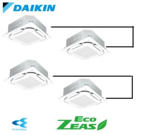 ダイキン 業務用エアコン EcoZEAS 天井カセット4方向 S-ラウンドフロー みまもりZEAS 10馬力 同時ダブルツイン 標準省エネ 三相200V ワイヤード