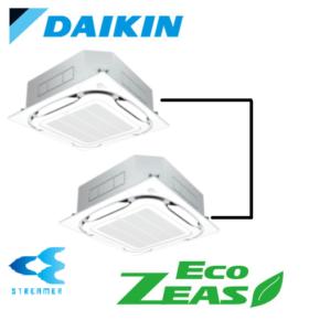 ダイキン 業務用エアコン EcoZEAS 天井カセット4方向 S-ラウンドフロー ストリーマ除菌シリーズ 10馬力 同時ツイン 標準省エネ  冷媒R32