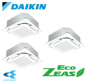 ダイキン 業務用エアコン EcoZEAS 天井カセット4方向 S-ラウンドフロー ストリーマ除菌シリーズ 8馬力 同時トリプル 標準省エネ  冷媒R32