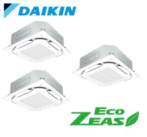 ダイキン 業務用エアコン EcoZEAS 天井カセット4方向 S-ラウンドフロー ストリーマZEAS 8馬力 同時トリプル 標準省エネ
